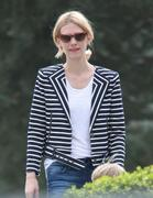January Jones out in the park in Los Angeles 01/22/14