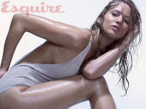 Jennifer Lawrence sexy bikini semi nude in Esquire photosession