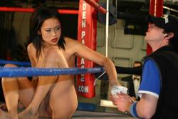 Naked woman wrestling league