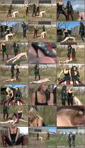 Fun At The Farm For Ice And Sophia Femdom